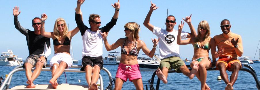 L'équipe des sports nautiques du Cap d'Antibes