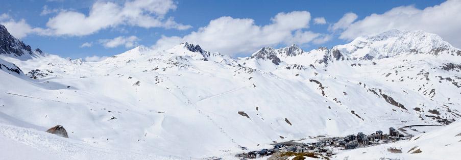 Ski à Tignes avec un moniteur en hiver